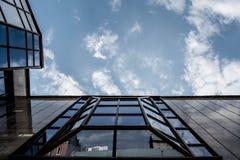 Edificio di Cigarettemirror fotografie stock libere da diritti