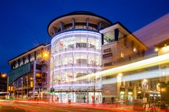 Edificio di Cornerhouse a Nottingham fotografia stock libera da diritti