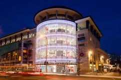Edificio di Cornerhouse a Nottingham, Regno Unito fotografie stock libere da diritti