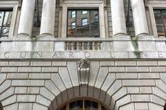 Edificio di Cunard - Manhattan, New York Immagine Stock Libera da Diritti