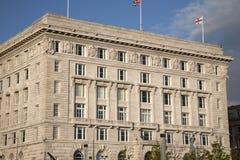 Edificio di Cunard, Pier Head, Liverpool Fotografia Stock Libera da Diritti