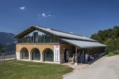 Edificio di Dokumentation Obersalzberg vicino a Berchtesgaden Immagini Stock