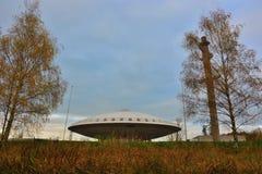 Edificio di Evoluon, a forma di come un UFO Fotografia Stock Libera da Diritti