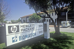 Edificio di Hewlett Packard, ditta alta tecnologia a Cupertino, California Fotografie Stock Libere da Diritti