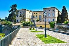 Edificio di Hystoric nella vecchia città di Corfù Fotografie Stock Libere da Diritti