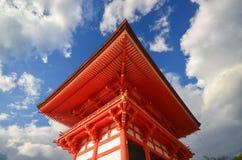 Edificio di Japnese in tempio di Kiyomizu a Kyoto, Giappone Fotografia Stock