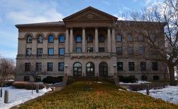 Edificio di Laflin nella neve Fotografie Stock