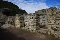 Edificio di Machu Picchu Immagini Stock Libere da Diritti
