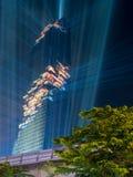Edificio di Mahanakhon sotto il cielo di sera a Bangkok Fotografie Stock Libere da Diritti