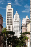 Edificio di Martinelli e di Banespa a Sao Paulo. Fotografia Stock Libera da Diritti