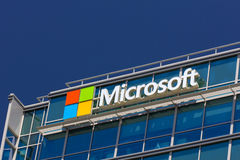 Edificio di Microsoft Fotografia Stock Libera da Diritti