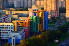 Edificio di Mosca (miniatura) Fotografie Stock Libere da Diritti
