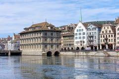 Edificio di municipio di Zurigo Immagini Stock Libere da Diritti