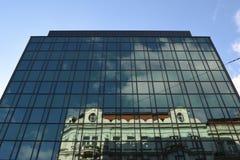 Edificio di Ol nella costruzione moderna Fotografia Stock Libera da Diritti
