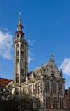 Edificio di Poortersloge (circa XV il C.). Bruges, Belgio Fotografia Stock