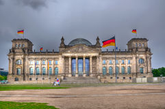 Edificio di Reichstag, Berlin Germany Fotografie Stock