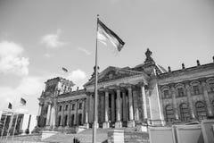 Edificio di Reichstag, sedile del Parlamento tedesco Fotografia Stock