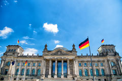 Edificio di Reichstag, sedile del Parlamento tedesco Immagine Stock Libera da Diritti
