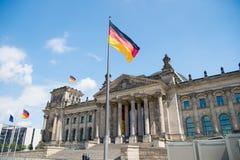 Edificio di Reichstag, sedile del Parlamento tedesco Immagini Stock