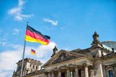 Edificio di Reichstag, sedile del Parlamento tedesco Immagini Stock Libere da Diritti