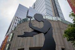Edificio di Seattle Art Museum a Seattle, WA È la costruzione principale del museo situata sulla prima via a Seattle del centro fotografie stock