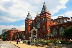 Edificio di Smithsonian Institution nel Washington DC Fotografia Stock