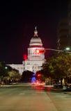 Edificio di Texas State Capitol alla notte Fotografia Stock Libera da Diritti
