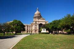 Edificio di Texas State Capitol in Austin durante la molla fotografia stock