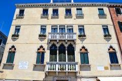 Edificio di Tipical a Venezia, Italia fotografia stock