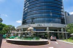 Edificio di Toa Nha Petrovietnam Tower nella citt? di Ho Chi Minh, Vietnam fotografia stock