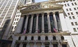 Edificio di Wall Street Fotografia Stock Libera da Diritti