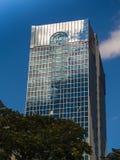 Edificio dinámico del negocio en Francfort, Alemania foto de archivo