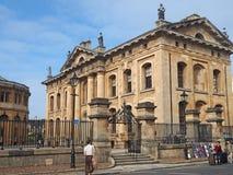 Edificio diseñado clásico del ` s Clarendon de la Universidad de Oxford fotos de archivo
