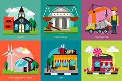 Edificio e costruzione illustrazione vettoriale