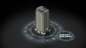 Edificio elegante en Internet del sistema del icono de las cosas Gráfico de la información