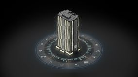 Edificio elegante en Internet del sistema del icono de las cosas Gráfico de la información NINGÚN texto