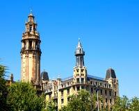 Edificio en Barcelona Foto de archivo libre de regalías
