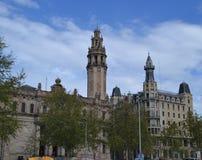 Edificio en Barcelona, España Foto de archivo libre de regalías
