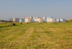 Edificio en campos Foto de archivo