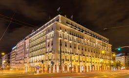 Edificio en el centro de ciudad de Atenas Fotos de archivo libres de regalías