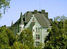 Edificio en el centro de Helsinki. Fotografía de archivo libre de regalías