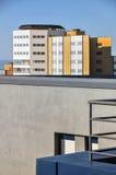Edificio en el cielo azul Fotografía de archivo