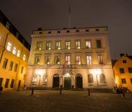 Edificio en el cuadrado de Royal Palace en Estocolmo suecia 05 11 2015 Imagen de archivo libre de regalías