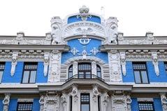 Edificio en el jugendstyle (arte Nouveau) imagenes de archivo