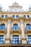 Edificio en el jugendstyle (arte Nouveau) fotografía de archivo libre de regalías