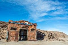 Edificio en el pueblo fantasma de Humberstone foto de archivo libre de regalías