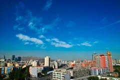 Edificio en la ciudad de Urumqi Imágenes de archivo libres de regalías