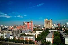 Edificio en la ciudad de Urumqi Foto de archivo libre de regalías