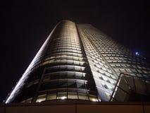 Edificio en la noche Fotografía de archivo libre de regalías