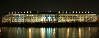 Edificio en la noche Imagen de archivo libre de regalías